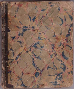 An image of the cover of Tiphen's journal, taken 3/31/04.  The original journal can be found in the Dickinson College Archives and Special Collections.